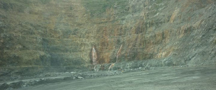 Gold mining Lihir Mine Papua New Guineaopen cut