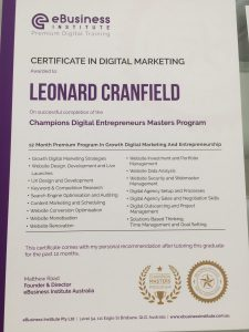 Champions Certiciate in Digital Marketing